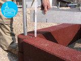 RubbertegelXL - Rubberen Zandbakprofiel - 100x30x15 cm Rood - Verwerking