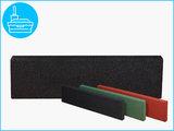 RubbertegelXL - Rubberen Opsluitband - 100x25x5 cm Zwart