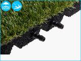 RubbertegelXL - Rubberen Kunstgrastegel - 50x50x3,0 cm - Pen/Gatverbinding