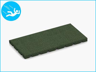RubbertegelXL - Rubberen Speelplaatstegel - 50x25x3 cm Groen - Bovenkant