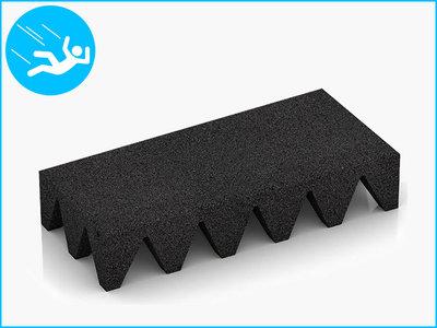 RubbertegelXL - Rubberen Speelplaatstegel - 50x25x10 cm Zwart - Bovenkant