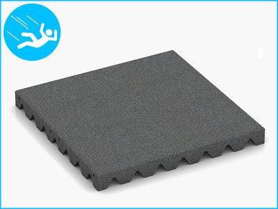RubbertegelXL - Rubberen Speelplaatstegel - 50x50x5 cm Grijs - Bovenkant