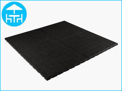 RubbertegelXL - Rubberen Terrastegel - 100x100x3 cm Zwart - Bovenkant