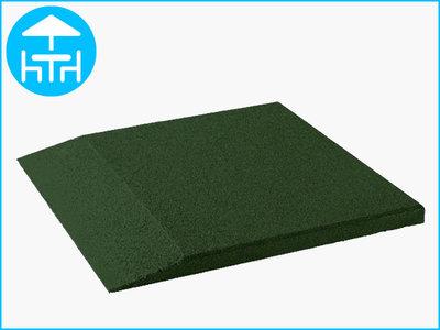 RubbertegelXL - Rubberen Terrastegel - 50x50 cm Rand Groen - Bovenkant
