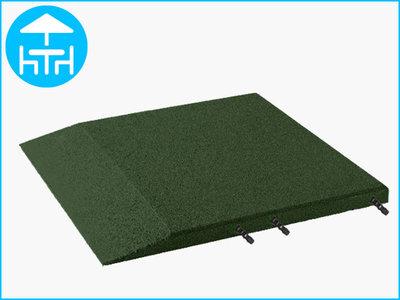 RubbertegelXL - Rubberen Terrastegel - 50x50 cm Rand Groen - met Pen/Gatverbinding - Bovenkant
