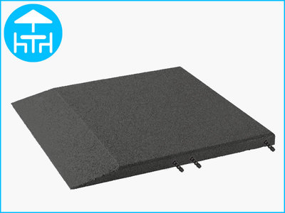 RubbertegelXL - Rubberen Terrastegel - 50x50 cm Rand Grijs - met Pen/Gatverbinding - Bovenkant
