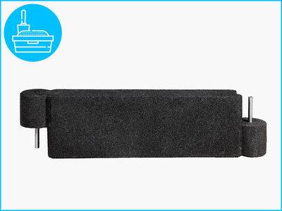 RubbertegelXL - Rubberen Zandbakprofiel - 100x30x15 cm Zwart
