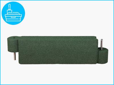 RubbertegelXL - Rubberen Zandbakprofiel - 100x30x15 cm Groen
