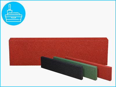 RubbertegelXL - Rubberen Opsluitband - 100x25x5 cm Rood
