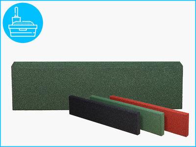 RubbertegelXL - Rubberen Opsluitband - 100x25x5 cm Groen