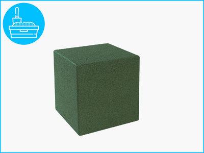RubbertegelXL - Rubberen Kubus - 30x30x30 cm Groen