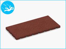 RubbertegelXL - Rubberen Speelplaatstegel - 50x25x3 cm Rood - Bovenkant
